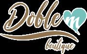 diseño del logotipo para tienda de ropa DobleM