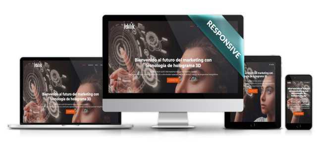 Diseño de página web Idilik