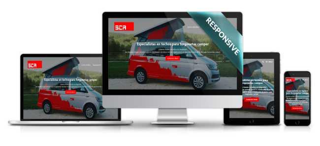 Diseño de página web Sca-iberica